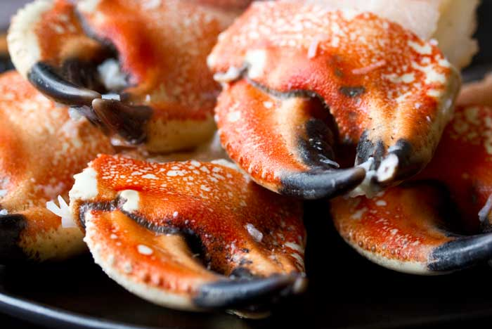 stacked jonah crab claws
