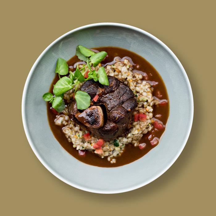 lamb and peas dish