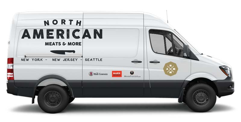 North American Meats and More delivery van