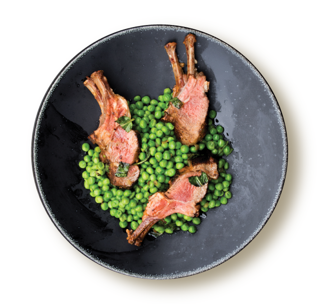 lamb and peas dish